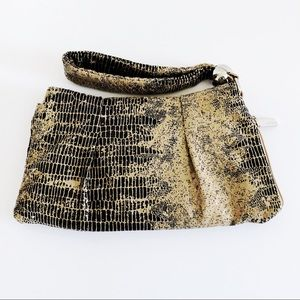 Hobo International Snake Pattern Leather Wristlet